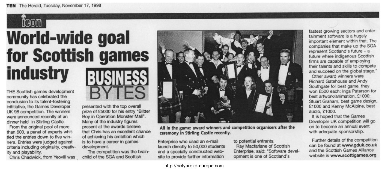 Image: s Developer UK 1998 Competition Article